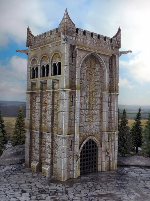 Renedra tower: Launched this April, the tower from Renedra, a stand alone kit that will form the basis for their castle complex.