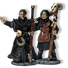 Necromancer & Apprentice. Necromancers study the magic and spells associated with death, as well as the creation and control of undead creatures such as zombies and animated skeletons. They generally wear dark colours (most commonly black).