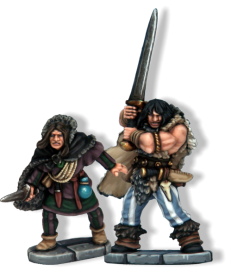 Thief & Barbarian. Dagger: includes any kind of one handed weapon smaller than a sword, such as knives, short swords and clubs. These weapons do -1damage. Models armed with both a dagger and a hand weapon are assume to mainly fight with the hand weapon.