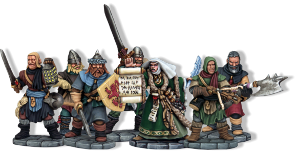 Frostgrave Soldiers with Sigilist Wizard. Multi- Part Plastic Soldiers with Metal Sigilist Wizard