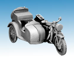 Photo of French Motorcycle and Sidecar (WWF049)