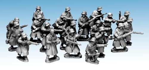 German Infantry in Greatcoats
