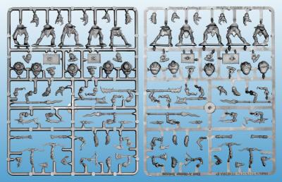 plastic snakemen frame