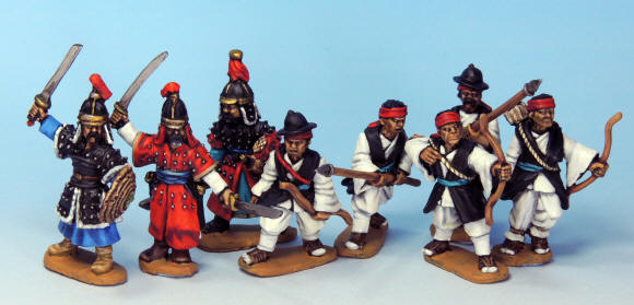 Korean and Ming Chinese warbands for Ronin