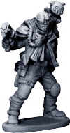 The Rogue. This metal figure, designed by Mark Copplestone, comes free with every copy of Rogue Stars bought through our Nickstarter, beginning next week.