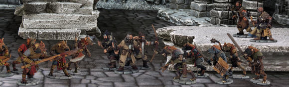 In front of the stand we'll be running a Frostgrave Gnolls v Frostgrave Barbarian Dragon Rampant game, with a Frostgrave adventure on the side. A proper 'mash-up'.