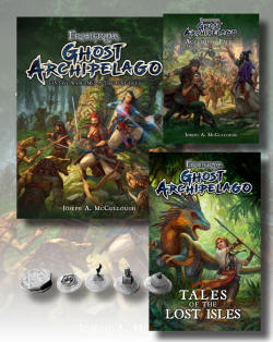 The Specialist level Nickstarter deal. This is the second level deal in our Nickstarter promotion for Frostgrave: Ghost Archipelago. This is designed for those of you who don't want to get into the figures yet. In this level you get a copy of the rulebook, an accessory pack, the book of Tales and a free set of five treasure tokens exclusively designed for use in Frostgrave: Ghost Archipelago. You also save money over buying the items individually. You also get entered into the Nickstarter, which makes you eligible for the Spend Goals and Prize Draws. You are welcome to add whatever else you want to your Specialist Level Deal.
