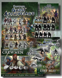 The Ultimate Frostgrave: Ghost Archipelago Deal! This is the one for the collector, the true Frostgrave fan. The deal basically gets you everything new offered in the initial release for Frostgrave: Ghost Archipelago. You will get: The Rulebook Frostgrave: Ghost Archipelago. The Accessory Pack, The Tales of the Lost Isles, Crewmen plastic box set, Ten metal Heritor figures, Ten metal Warden figures, Four female Crew members, Ten specialist crew members, Five Saurian models, Nine Animal models. We'll be giving you a 15% discount over buying these items individually, PLUS these items free: Five exclusively designed Ghost Archipelago treasure tokens, A unique Heritor Deal 'alternative Monarch head' variant, Two 20 sided dice & enough round plastic bases to base all your Ghost Archipelago figures.