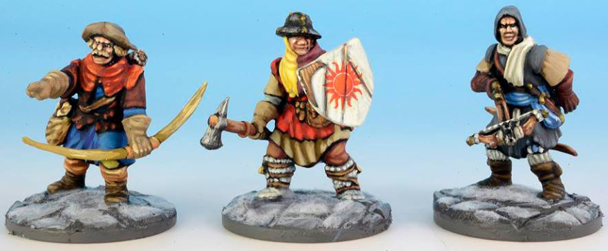 Frostgrave Soldiers painted by Dave Woodward