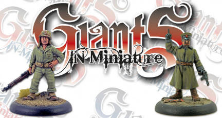 Giants in Miniature (GiM) is a new range of 28mm limited edition metal character figures produced by Wargames Illustrated.