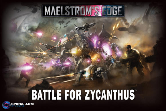 Coming next week. Maelstrom's Edge, the Battle for Zycanthus. We'll have free figures and some free downloadable goodies to give away with every copy of the game, save your money to buy from us.