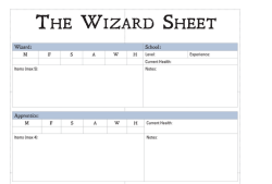 Wizard Sheet