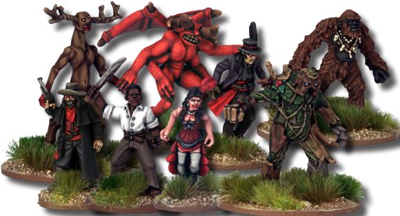 Dracula's America: Shadows of the West in August. Expect to get a newsletter from us next week announcing the start of the Nickstarter pre-order program for Dracula's America, though while you wait here's a selection of the miniatures to look forward to.