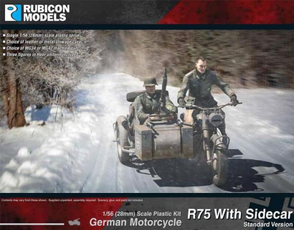 Photo of German Motorcycle R75 with Sidecar. (RU-280051)