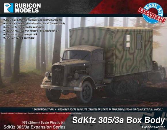 Photo of SdKfz 305/3a Expansion Set - Box Body (Einheitskoffer)  (RU-280047)