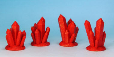 Photo of Red Crystal Formations (Glittering) (NFX003)