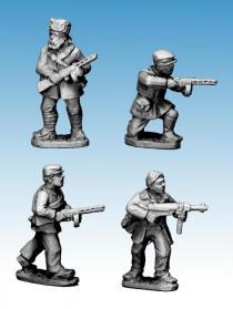 Photo of Partisans with small machine guns (WWP052)