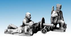 Photo of Partizans firing Maxim gun (WWP060)
