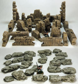Photo of Ruined Walls and Rock Pack. (GA-SET01)