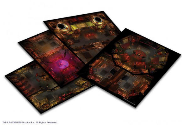 Photo of STAR TREK ADVENTURES: THE NEXT GENERATION KLINGON TILE SET (MUH051476)