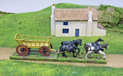 Photo of Ladder-Sided Waggon (inc team of 4 Horses) (T-Eq01)