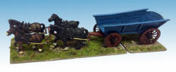 Photo of Plank-sided Waggon (inc team of 4 horses) (T-Eq02)