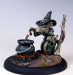 Photo of FEMALE MOUSE WITCH WITH CAULDRON (DSM7966)