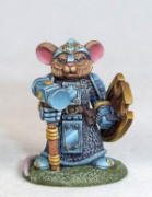 Photo of MOUSE CLERIC WITH WARHAMMER AND SHIELD (DSM8068)
