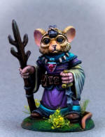 Photo of MOUSE MAGE WITH STAFF AND DAGGER (DSM8070)