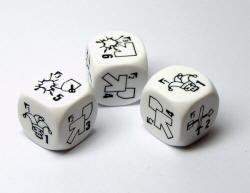 Photo of Open Combat specialist dice - White (OC-WHT-DICE)