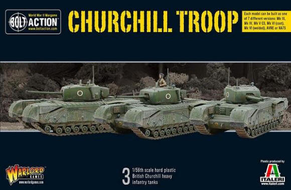 Photo of Churchill Troop (3 plastic tanks) (WG-402011001)