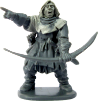 It is one of our Frostgrave plastic soldiers that has been put together by ace figure designer Mark Copplestone, and he has sculpted a new head and hood onto it, making this a genuine 'one off' figure.