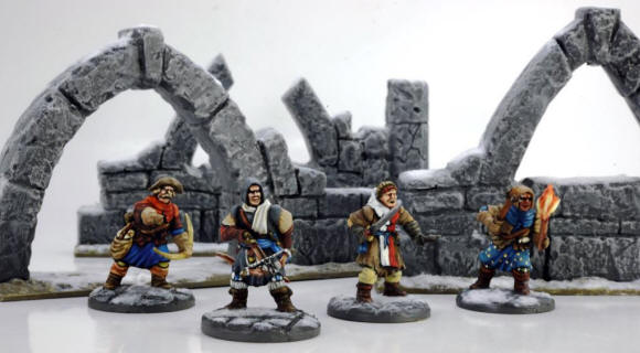 Ruins from Renedra Ltd suitable for #Frostgrave, with Frostgrave Soldiers in front. All built and painted by Dave Woodward. Could use them for In Her Majesty's Name as well.